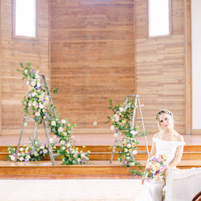 Spring Fruit Wedding in Old New Orleans Church | Complete Upholstered Ceremony Seating, Lounge Space