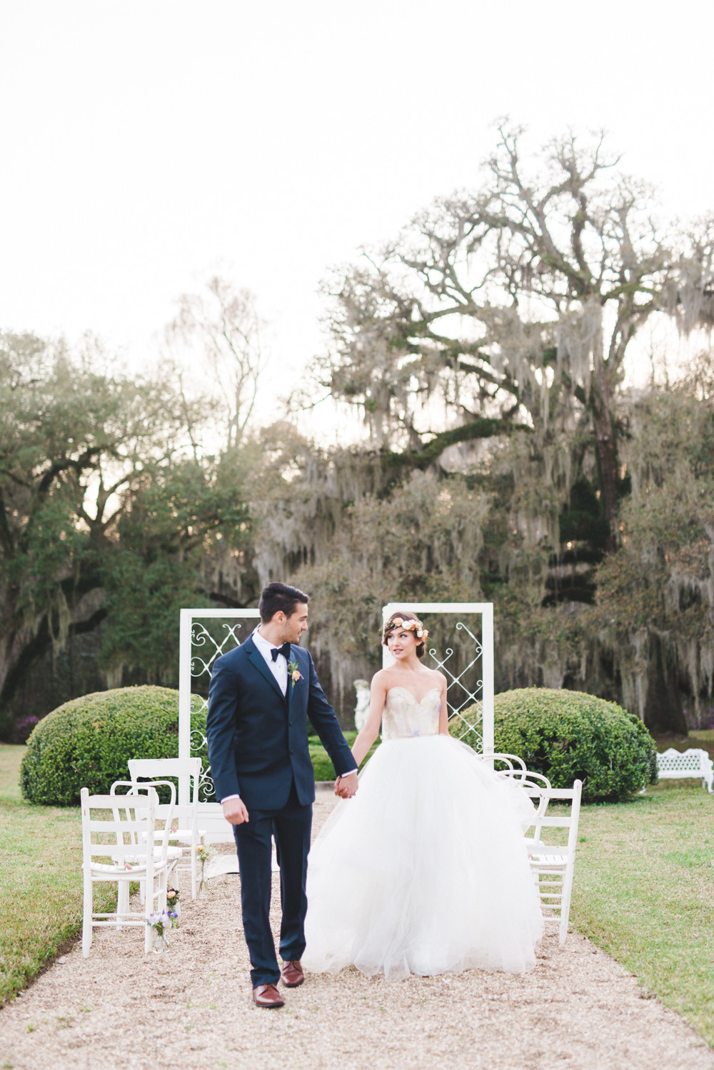 Afton Villa Gardens' Whimsical Garden Wedding Ideas with Lance Nicoll, Leaf + Petal NOLA, Everly Event Planning & Design, and Lovegood Wedding & Event Rentals