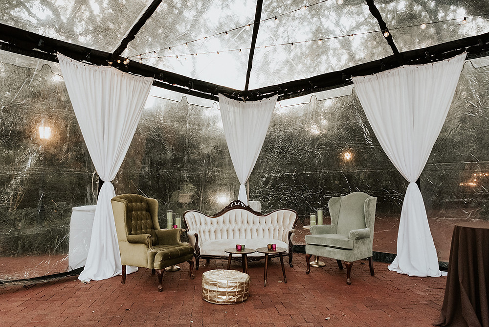 New Orleans' Tree of Life and Audubon Tea Room Wedding with Lovegood Wedding & Event Rentals with Pink Chuppah, Babybreath Floral Boa, and Many More Details  | Lovegood Wedding & Event Rentals, New Orleans Vintage Rental Company for Corporate, Parties, and Weddings | Lounge Furniture in NOLA, Specialty Rentals, Decor across the Southeast, fashion forward bride and groom with lounges