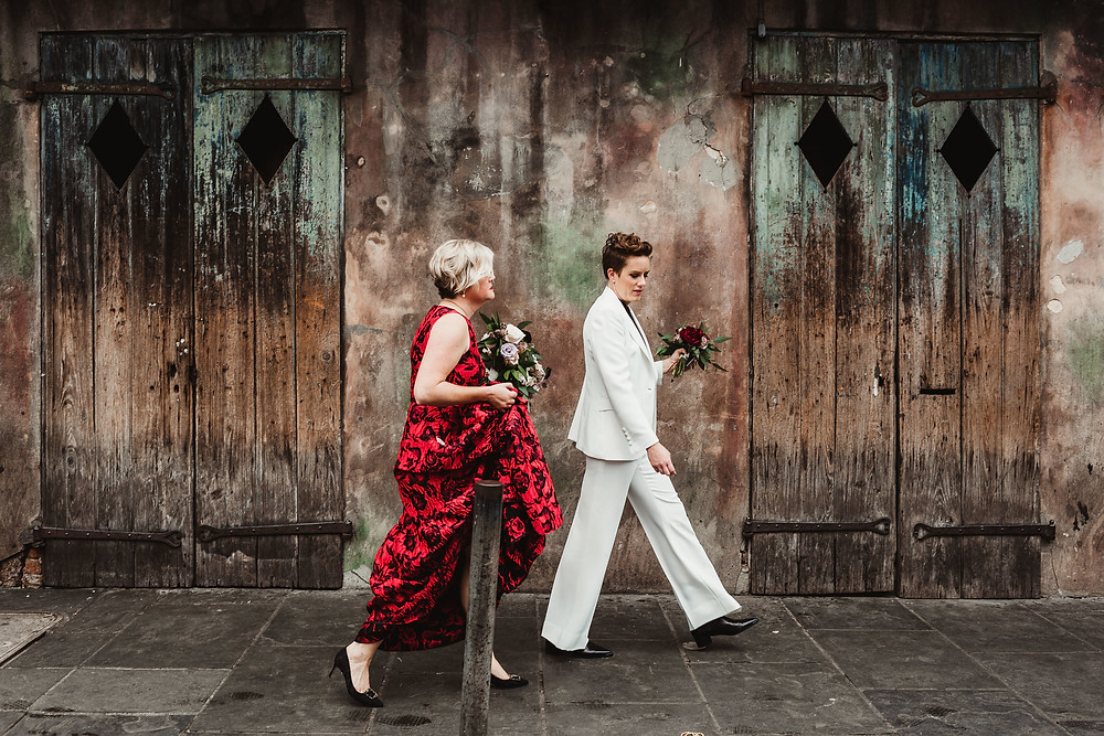Red Palette New Orleans Wedding with Kat Rizza Photography, Clark & Kelly, Antigua Florals, and Lovegood Wedding & Event Rentals