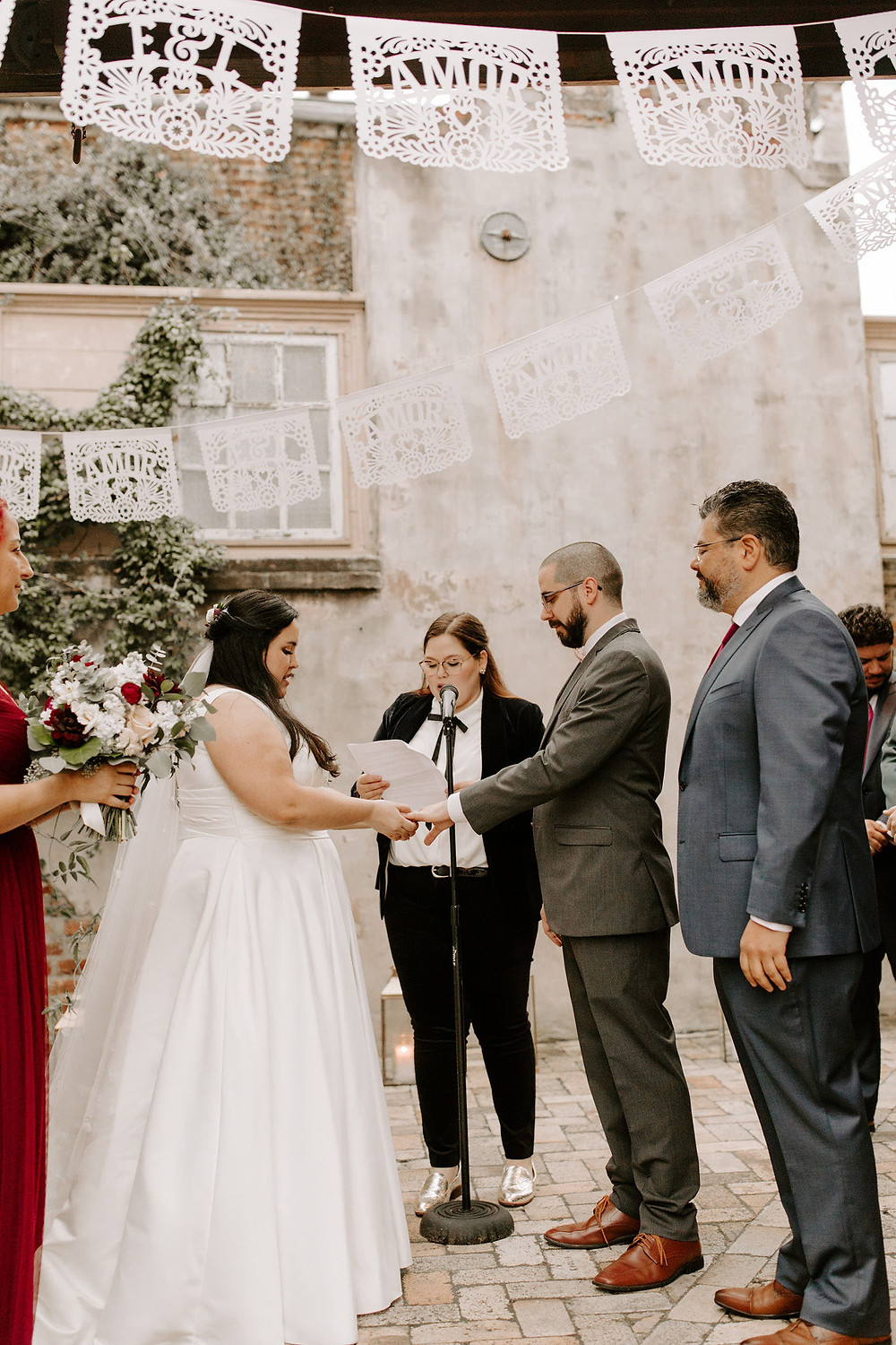 Race & Religious Wedding with Gabrielle Hail Photography, Leaf + Petal NOLA, Lovegood Wedding & Event Rentals in New Orleans / Vintage Rentals, Furniture, Decor, and so much more!