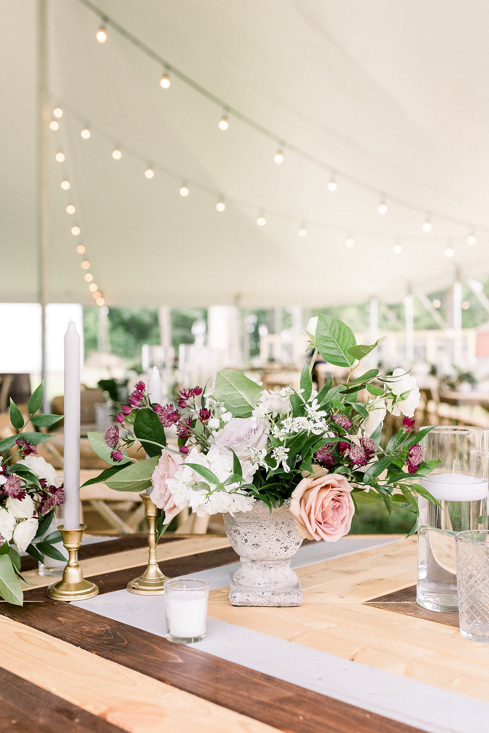 Hope and Jordan's Backyard Wedding with Alexi Lee Photography, Angela Marie Events, Root Floral Design, and Lovegood Wedding & Event Rentals