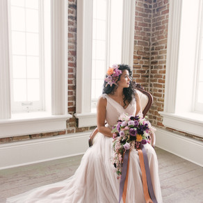 New Orleans' Purple & Copper Style Shoot with Lauren Carroll Photography, Weddings by LuLu,