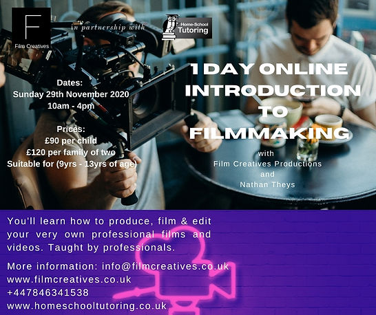 Film Creatives Online Filmmaking Course