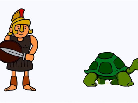 Anansi an Manguus (Achilles and the Tortoise - Zeno's Paradox)