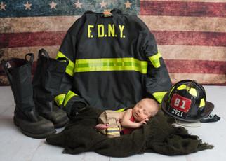 Firefighter Newborn Picture