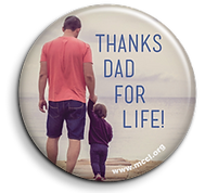 MCCL Thanks Dad for Life button
