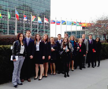 MCCL Global Outreach students at UN