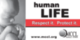 Human life respect it protect it billboard