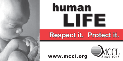 Human life respect it protect it billboard