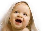 newborn baby white towel