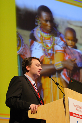 Scott Fischbach MCCL Global Outreach speaks at UN