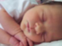 safe newborn baby sleeping