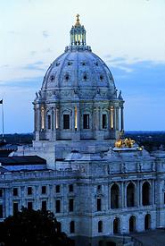 Minnesota state Capitol sunset