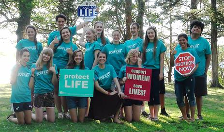 students at pro-life youth camp
