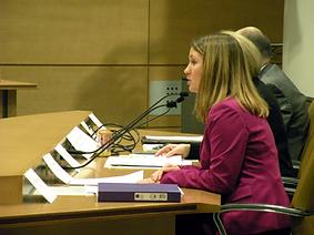 MCCL Legislative Director Andrea Rau testifies at committee hearing