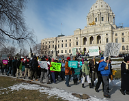 People march at state Capitol to protect human life