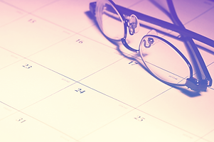 glasses with calendar