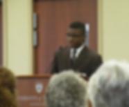 African American student speaking