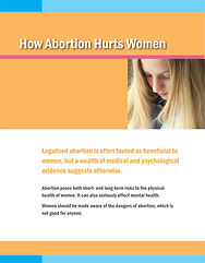 How Abortion Hurts Women brochure