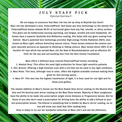 July Staff Pick: Maui Jim