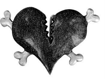 Boucle de ceinture coeur brisé