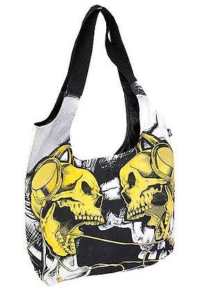 Sac bandoulière yellow skulls DARKSIDE