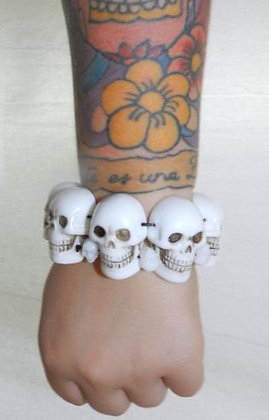 Bracelet White Skull Collection KREEPSVILLE 666