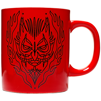 Mug pinstripe devil rouge SOURPUSS