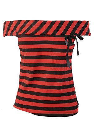 Top 1950's red stripey DARKSIDE