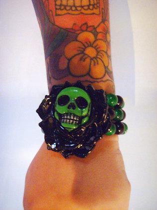 Bracelet Skull Rose Vert KREEPSVILLE 666