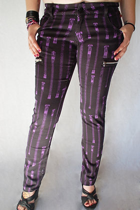 Jeans Zipper violet HELL BUNNY