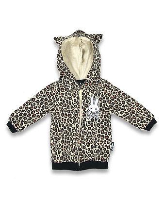 Veste zippée Leopard SIX BUNNIES