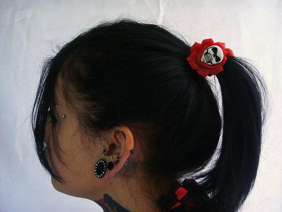 Elastiques Skull Rose Red KREEPSVILLE 666