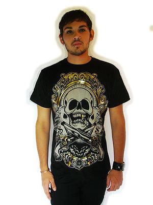 T-Shirt Skull Metallic DARKSIDE