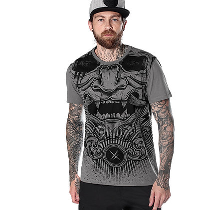 T shirt grey mask HYRAW