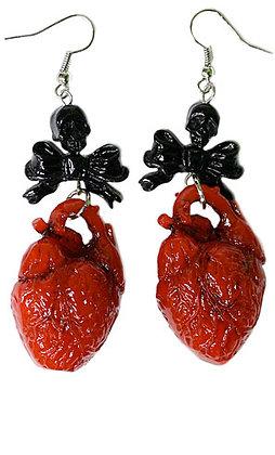 Boucles d'oreille Red Heart KREEPSVILLE 666