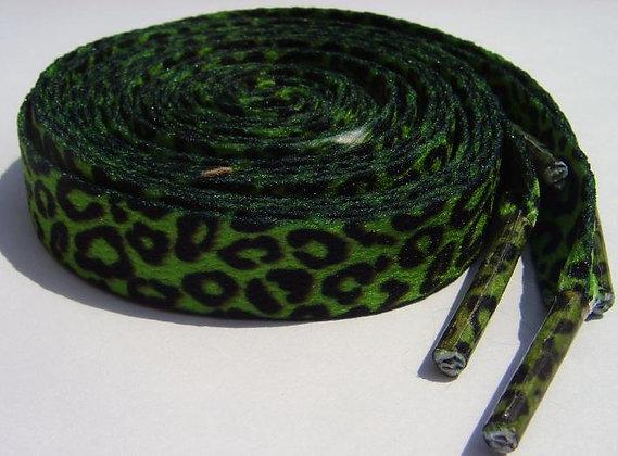 Lacets léopard vert SOURPUSS