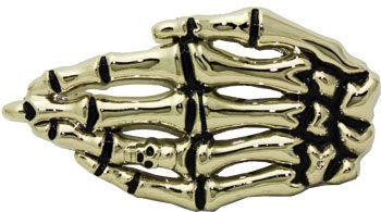 Boucle de ceinture main de squelette