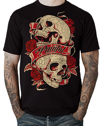 T-Shirt double skull PAINFUL