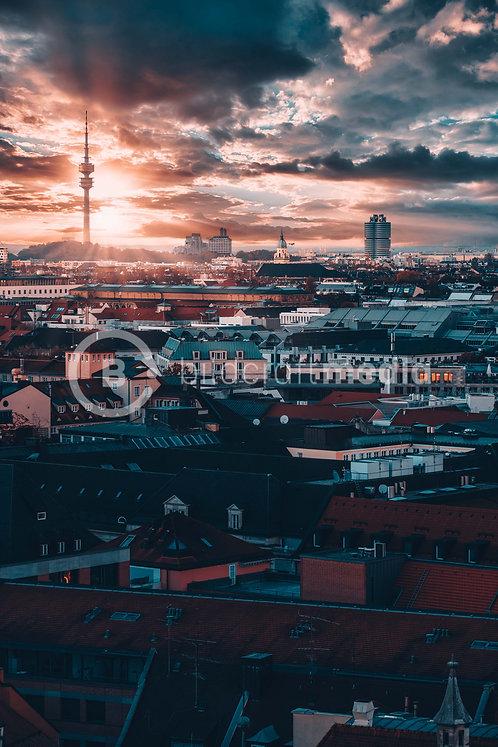 Über den Dächern / Olympiaturm (#0712)
