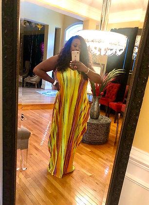 Bold Stripes Summertime Dress