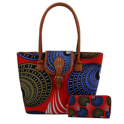 AfroChic Style Tote: Blue