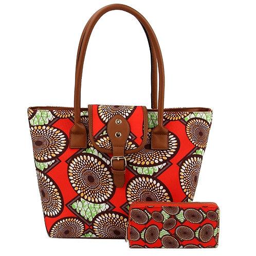 AfroChic Style Tote: Orange