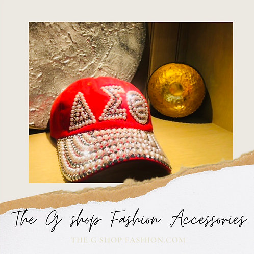 Fashion Cap: Red Pearls