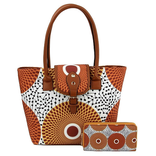 AfroChic Style Tote: Beige