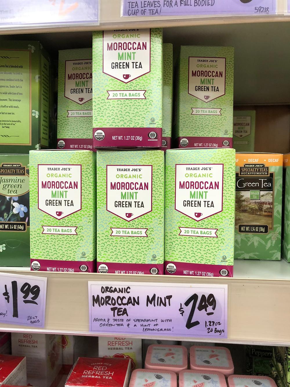 Trader Joes Moroccan mint green tea
