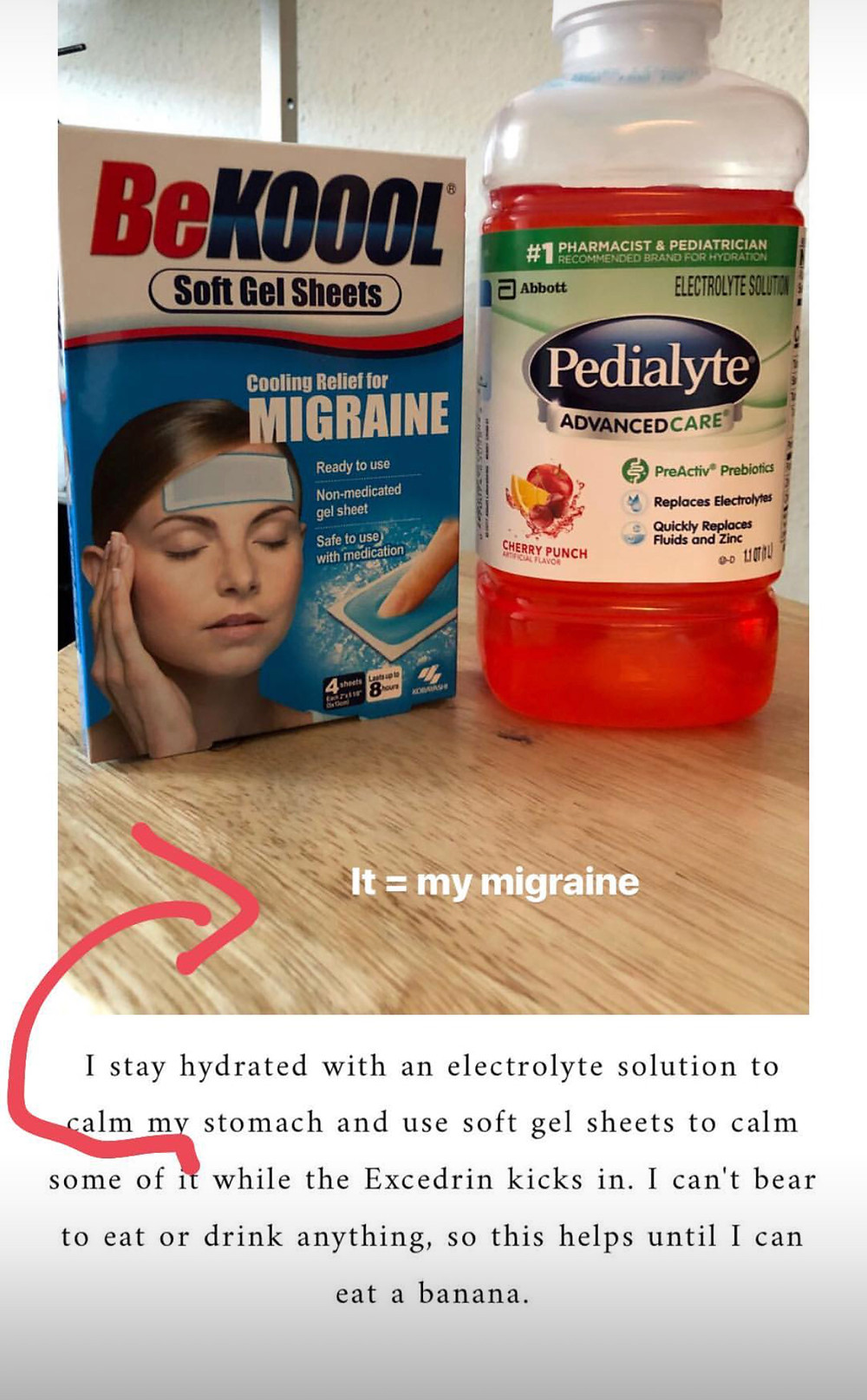 bekool gel migraine patches and pedialyte