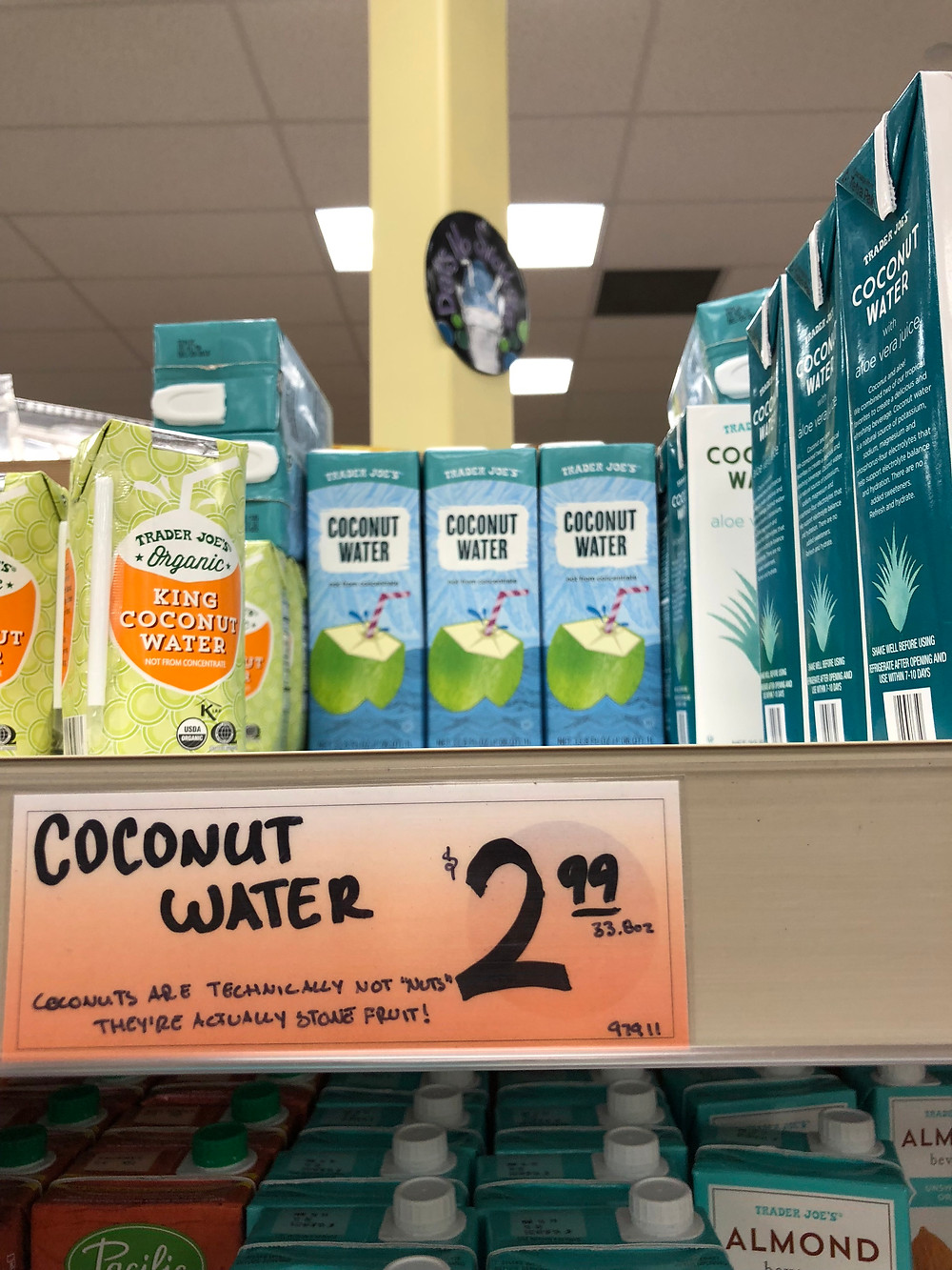 Trader Joes coconut water