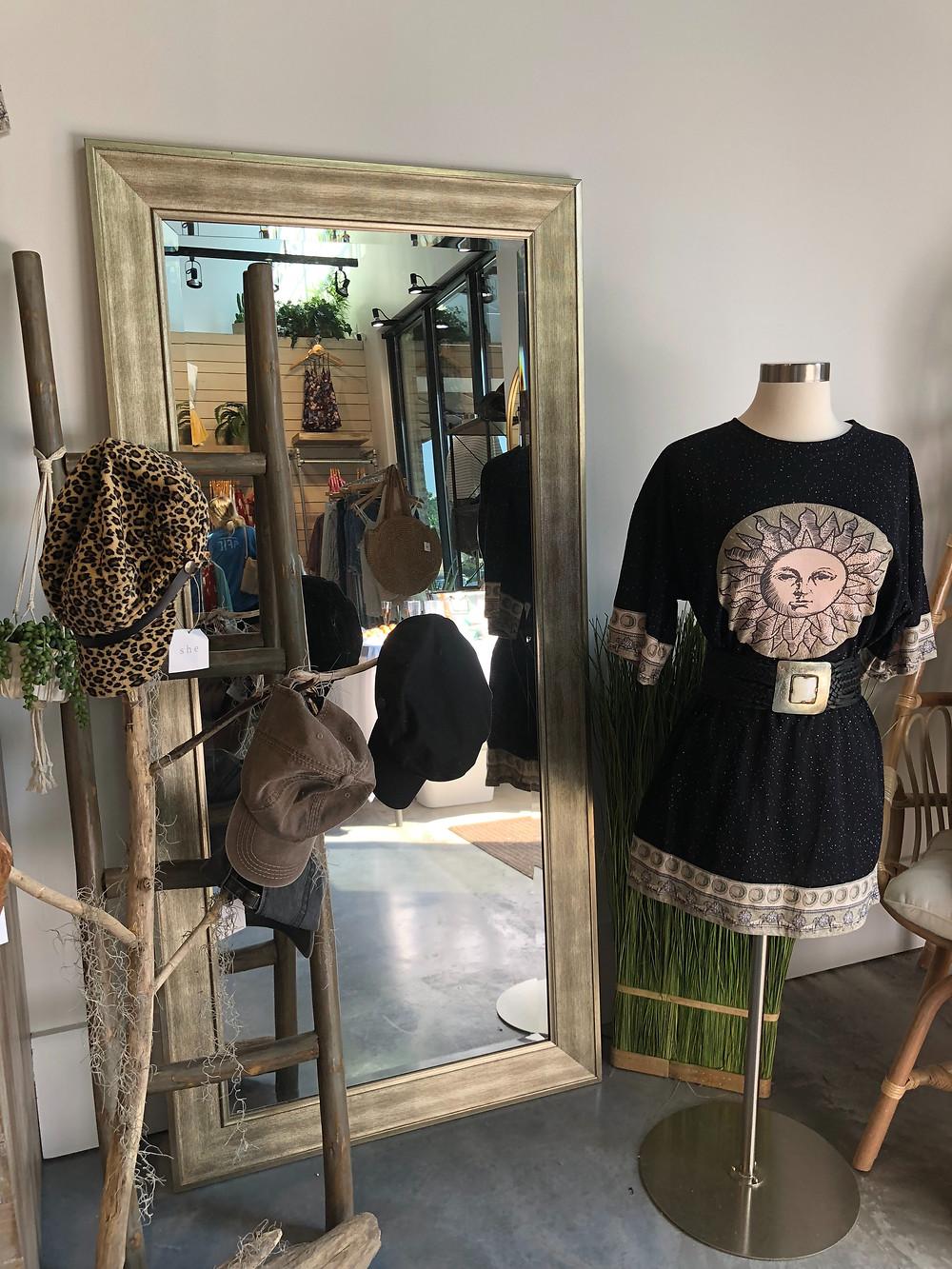Celeste cotton t-shirt dress at SHE Metairie retail boutique